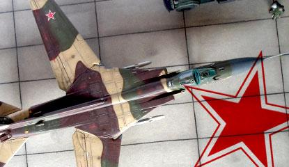 MiG-23M sur son diorama